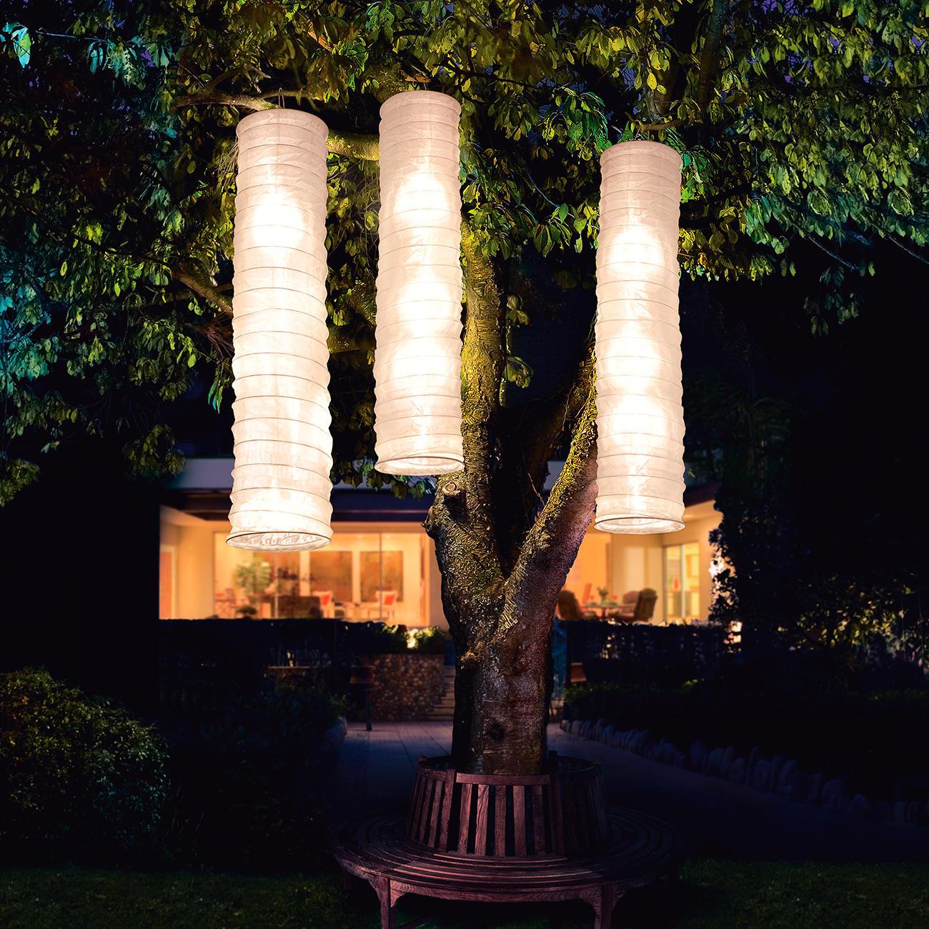 Colonne de lumi re solaire lot de 3 pas cher pro idee for Lumiere de jardin