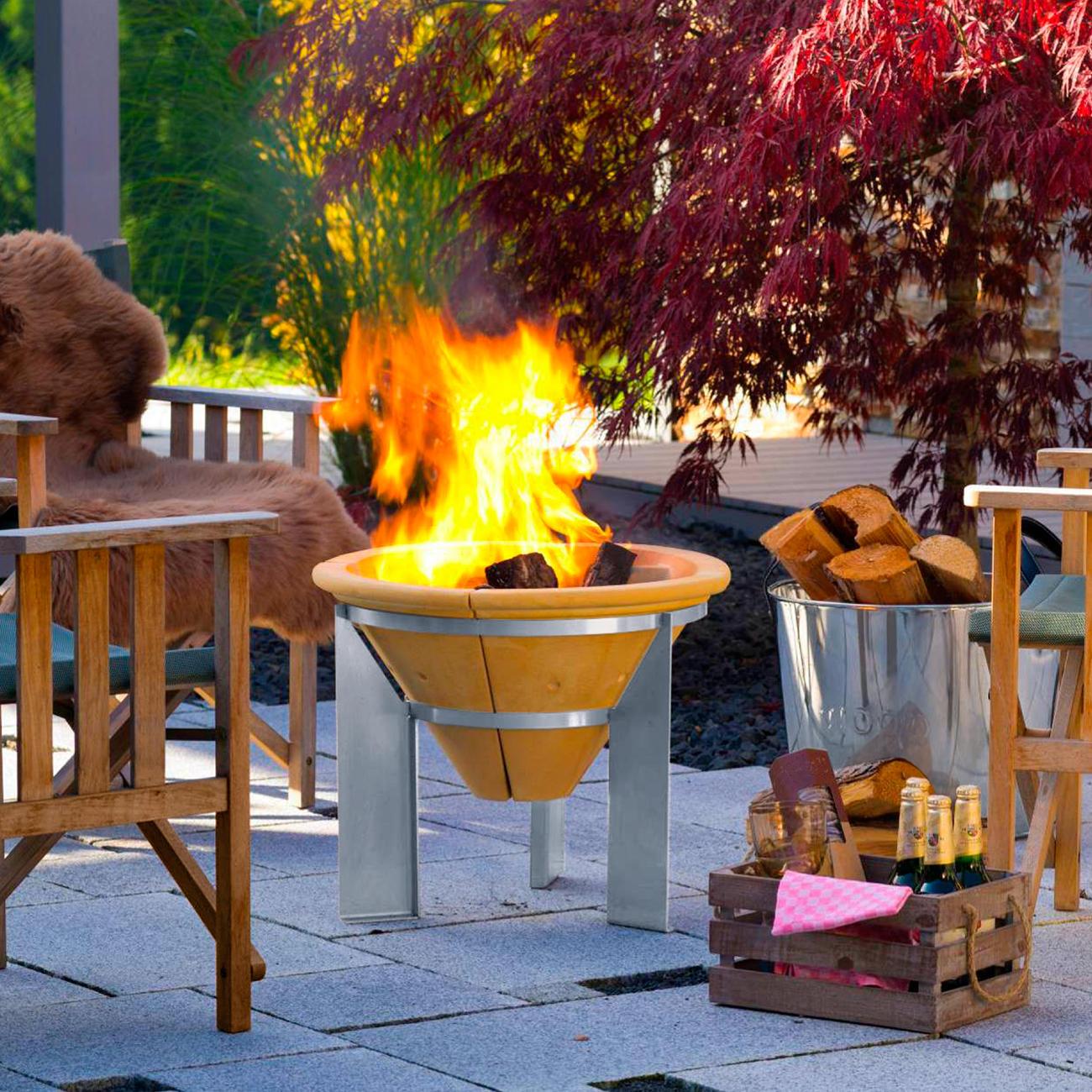 Acheter brasero accumulateur de chaleur en ligne pas cher - Faire un feu de camp dans son jardin ...