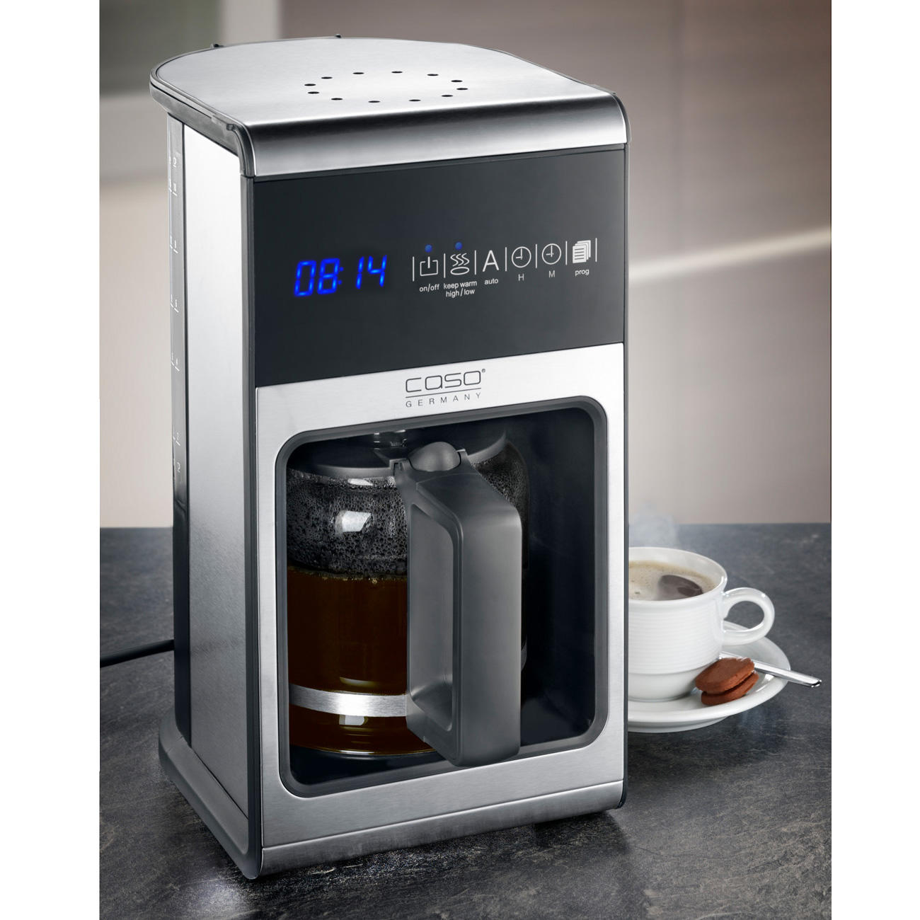 Machine caf caso design coffee one pas cher pro idee - Machine a cafe design ...
