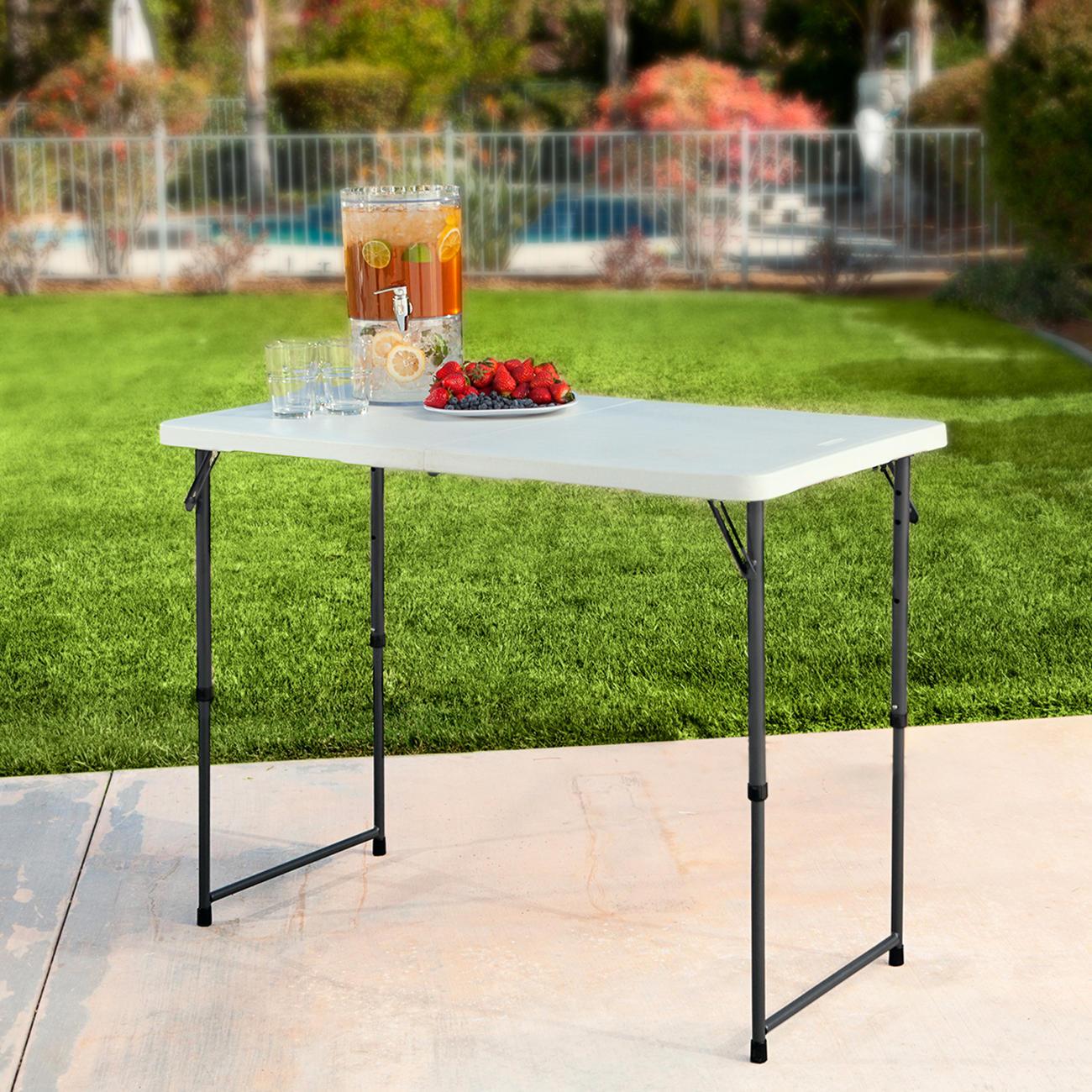 Acheter table pliante r glable en hauteur en ligne pas cher - Table jardin hauteur reglable toulouse ...