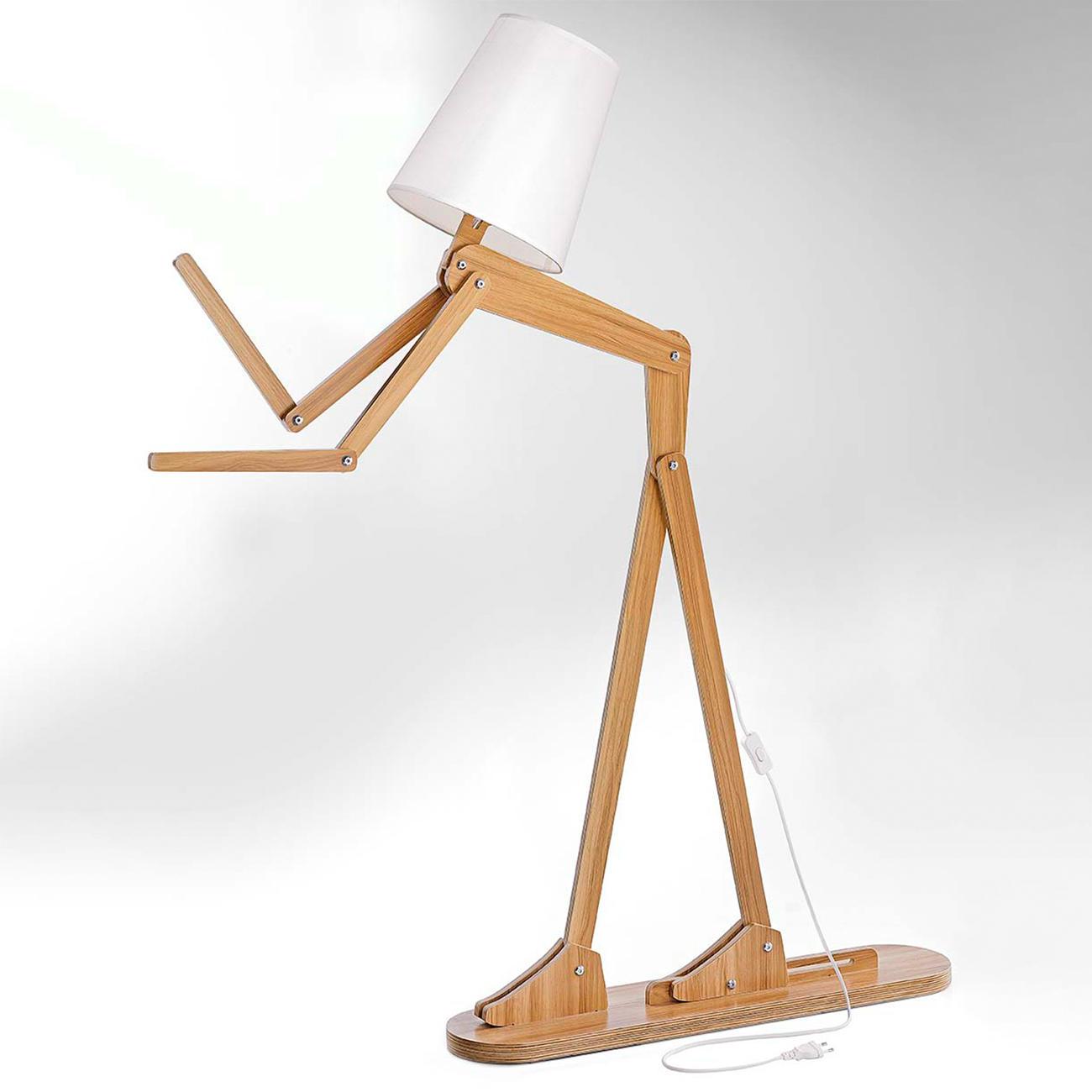 Boite Lumineuse Idee Message lampadaire « humain »