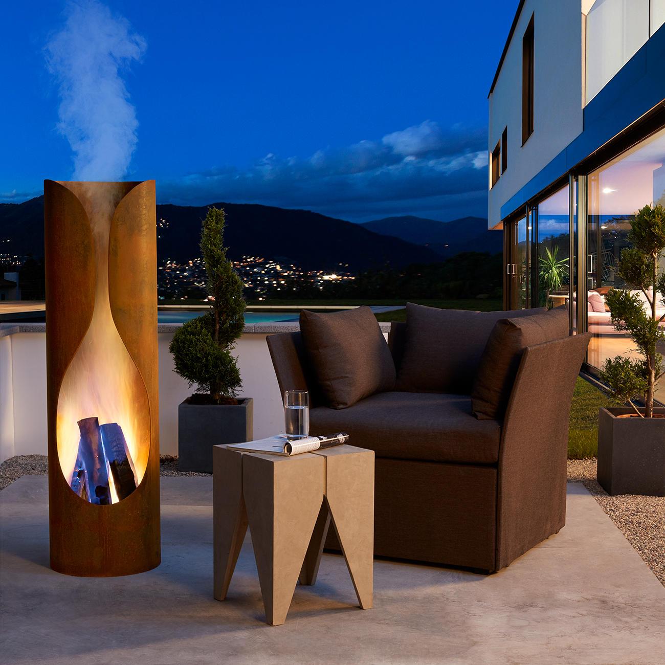 Prix Cheminee Exterieur Feu Chic Design foyer masaya