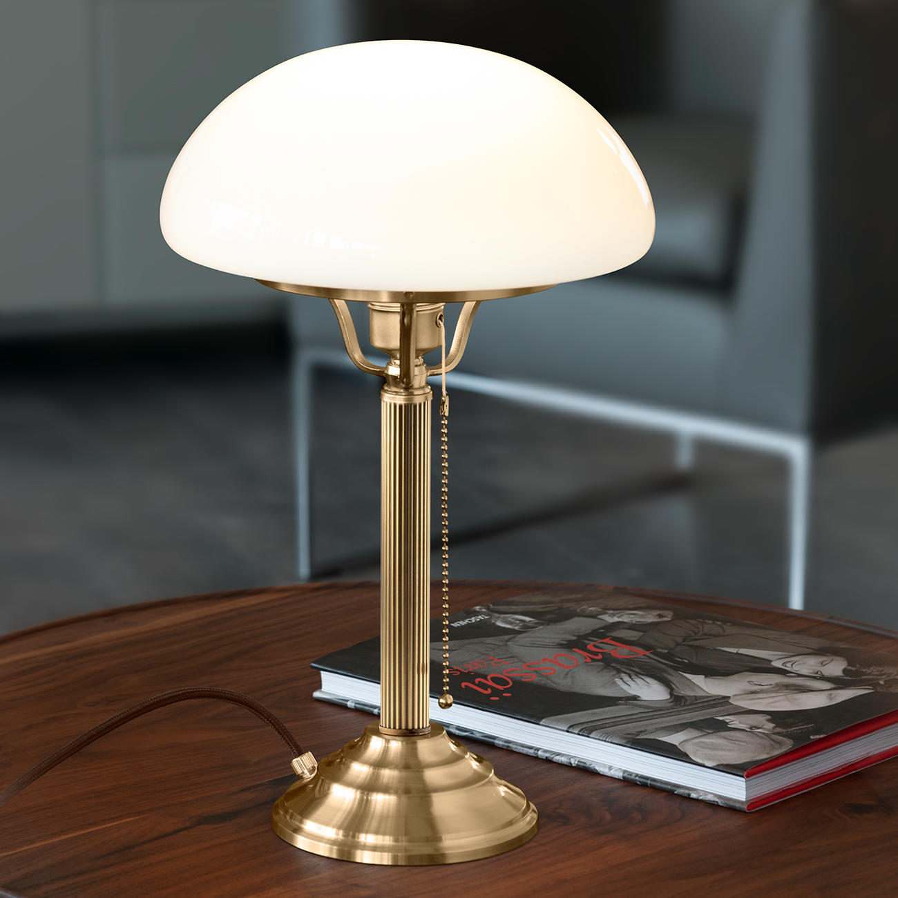 Lampe champignon « Berliner Messing Pilzlampe » pas cher