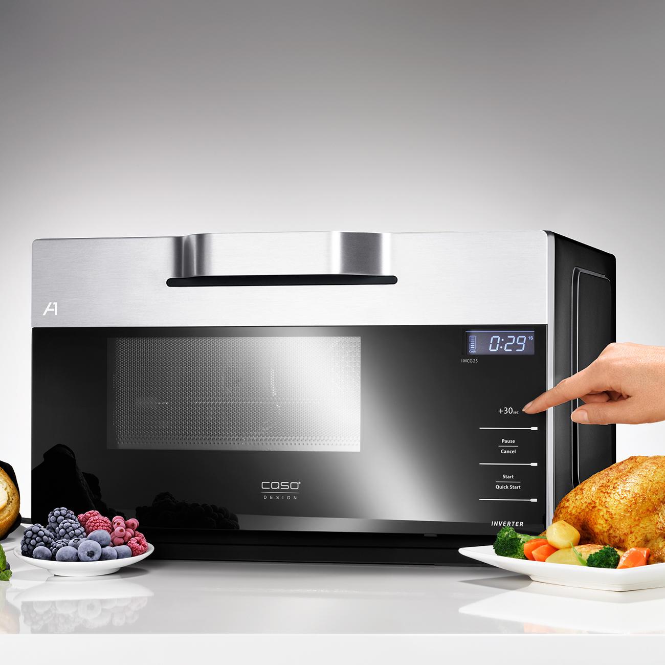 Micro ondes combin technologie inverter imcg25 pas cher for Technologie cuisine