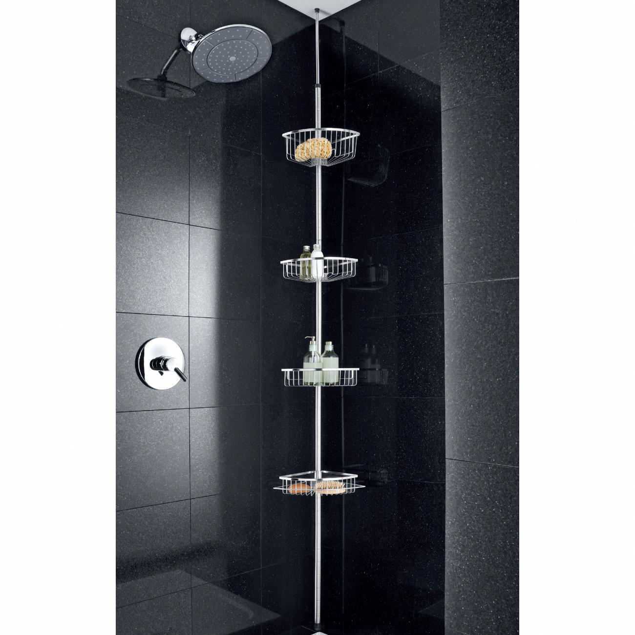 etagere de douche inox. Black Bedroom Furniture Sets. Home Design Ideas