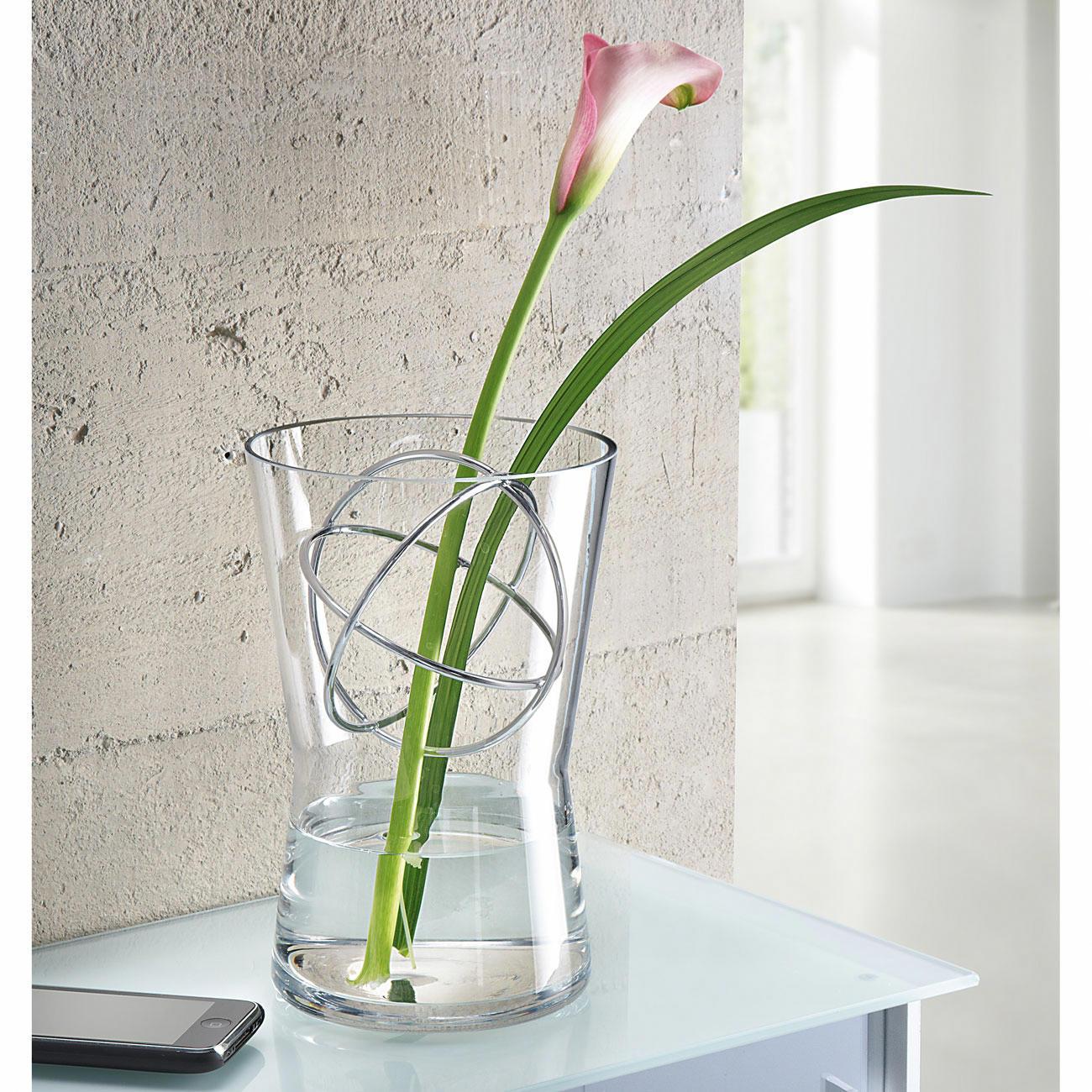 vase en verre avec sph re d corative pas cher pro idee. Black Bedroom Furniture Sets. Home Design Ideas