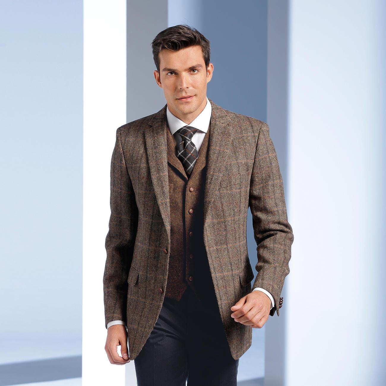 veston ou veste en tweed harris de carl gross pas cher. Black Bedroom Furniture Sets. Home Design Ideas