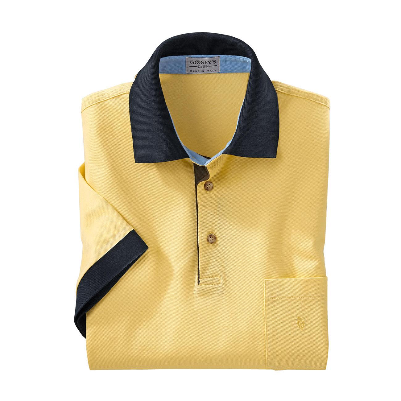 Polos Goosey's jaunes Fashion homme LWePUZr