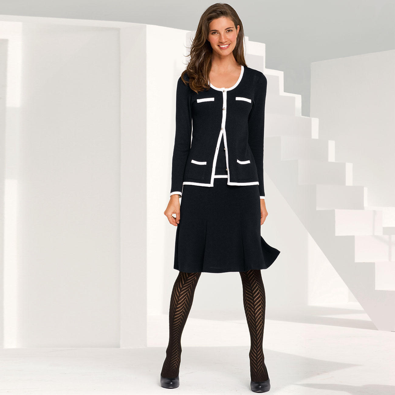 Veste ou top twin set haute couture hofmann streicher for Haute couture tops