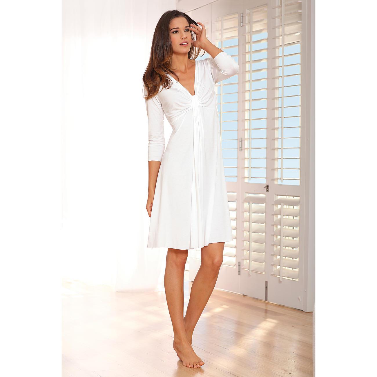 chemise de nuit haute couture de micromodal pas cher. Black Bedroom Furniture Sets. Home Design Ideas