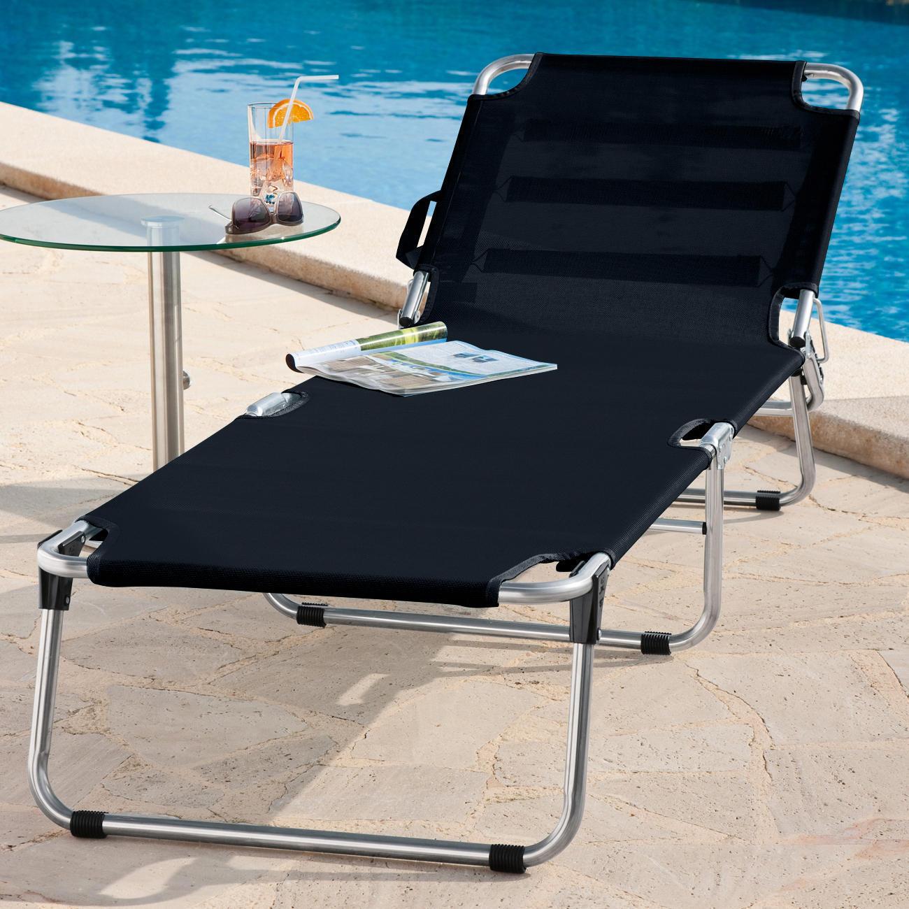 Chaise longue 3 pieds en aluminium pas cher pro idee for Chaise longue tours