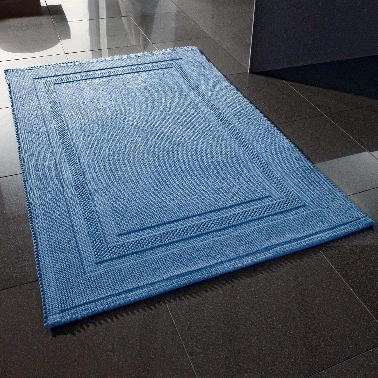 Tapis de bain non pelucheux 60 x 90 cm pas cher pro idee for La redoute tapis salle de bain