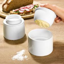 Beurrier à eau - Maintient le beurre au frais à la température ambiante. Parfaitement assorti à tous les services.