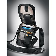 Sac en bandoulière antivol - La besace résiste aux entailles, est sécurisée RFID & munie d'une alarme.