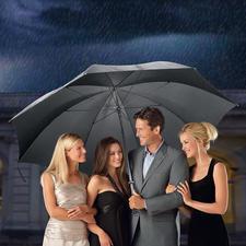 Parapluie XL de portier - Une protection optimale contre la pluie pouvant accueillir jusqu'à 7 personnes. Prix très avantageux.
