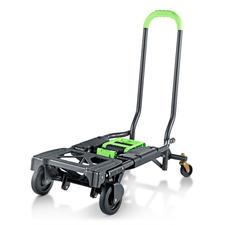 Chariot de transport pliable 2-en-1 - Doublement pratique : chariot de transport et diable tout-en-un.