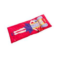 La taie d'oreiller (oreiller à insérer par le côté) et le sac de couchage sont cousus en une seule pièce.