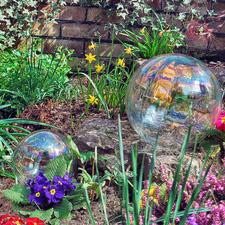 Bulle de savon en verre - Magnifique bulle de savon pour l'éternité – en verre irisé. Usages multiples, à l'intérieur et à l'extérieur.