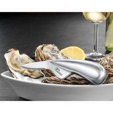 Couteau à huîtres professionnel - En acier chirurgical trempé inoxydable. Fiable et durable. Pour droitiers et gauchers.