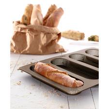 Moule en silicone pour petits pains ou baguettes - Des petits pains ou des baguettes faits maison – aussi croustillants que chez le boulanger.
