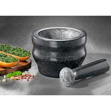 Mortier en granit Cole & Mason - Broyer des épices rapidement tout en préservant leur arôme, avec le mortier professionnel en granit massif.