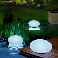 Galet lumineux solaire, 1 pièce - Le galet lumineux illumine votre jardin de plusieurs couleurs en alternance ou dans votre couleur favorite.