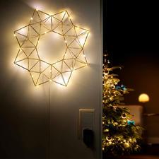 Etoile lumineuse pyramidale - Eclairage festif et néanmoins discret et tamisé : l'étoile lumineuse DEL à la forme géométrique actuelle.