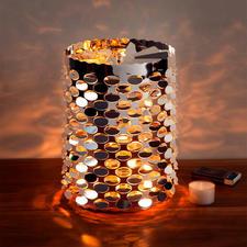 Carrousel à veilleuses XL - Déclenchez un superbe jeu de lumière aux fabuleux rayonnement sur votre table, buffet ou bord de fenêtre.