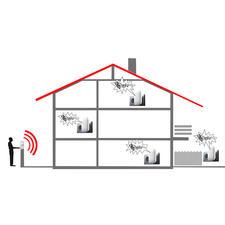 Prolongez l'équipement de base en ajoutant un récepteur additionnel pour entendre votre sonnette dans toute la maison, jusque dans le jardin …