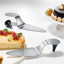 Pelle à tarte talon aiguille - En acier inox brossé, avec talon aimanté.