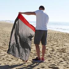 A la plage ou à la montagne, par temps humide ou ensoleillé: cette couverture vous accompagne dans toutes vos excursions.