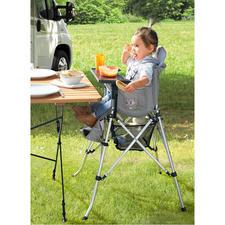 Chaise haute pliante pour bébé - Idéale pour les vacances, une visite chez des amis ou de la famille.