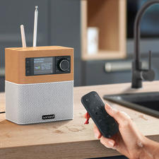 Appréciez pleinement la musique pendant que vous faites la cuisine, la vaisselle … grâce à la télécommande étanche (IPX7).