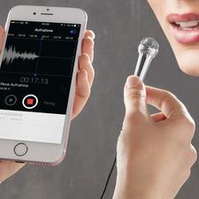 Mini-microphone pour smartphone - Vous vous sentirez de suite dans la peau d'un animateur TV ou d'une star de la chanson