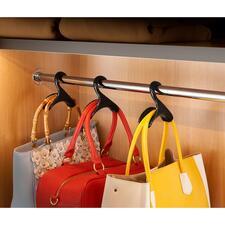 Cintres pour sac à main « Black Swan », lot de 3 - Rangez vos sacs à main tout en les mettant en valeur.