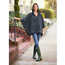 Poncho de pluie de poche « Sport-Style » - Rarement une protection contre la pluie aura été aussi élégante et féminine.