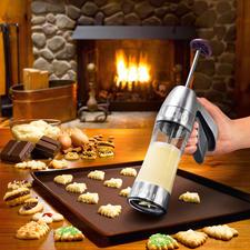 Presse à biscuits Cookie Pro™ - Réussissez vos biscuits sablés rapidement et facilement.