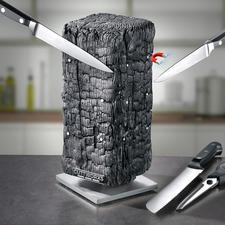Bloc à couteau aimanté Pyrolith - Une sculpture moderne ? Un bloc à couteaux design ? Les deux !