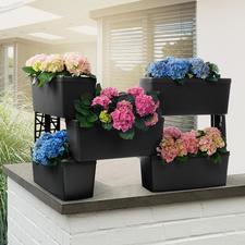 Système de bacs à plantes modulables, lot de 5 pièces - Pour former un écran végétal, une protection contre les regards indiscrets...