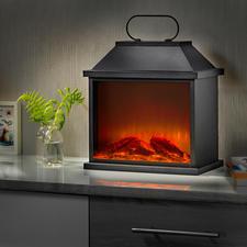 Lanterne « feu de cheminée » - L'ambiance d'un véritable feu – grâce à une astucieuse technologie de simulation à LED.