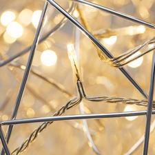 Les LED blanc chaud sont harmonieusement répartis au sein de la sphère.