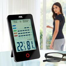 Système de surveillance climatique ADE - Affiche et analyse l'humidité de l'air dans la pièce et vous prévient en cas de risque de moisissures.