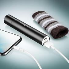 La batterie lithium-ion intégrée alimente le chauffe-mains et la lampe et fournit de l'énergie à vos smartphones, lecteurs MP3 ...