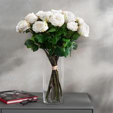 Bouquet de roses Avalanche - Une beauté impérissable. D'un réalisme impressionnant - comme fraîchement liées par un fleuriste.