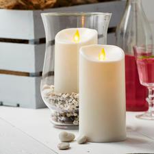 Bougies d'extérieur LED TWINKLE - Effet flamme vivante. Pour l'intérieur et l'extérieur.