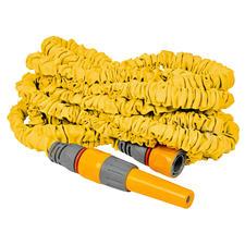 Le raccord rapide aqua-stop permet de connecter le tuyau en un clin d'œil, lorsqu'il n'est pas utilisé, il se rétracte pour ne prendre que peu de place…
