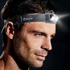 Lampe frontale à LED ultra-légère - Ne pèse que 69 g. 9 mm d'épaisseur. Et aussi confortable qu'un bandeau ordinaire.