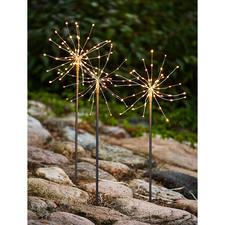 Fleurs lumineuses LED, lot de 9 pièces - Des bougies magiques qui ne se consument jamais, aux fines LED scintillantes, telle la rosée du matin.