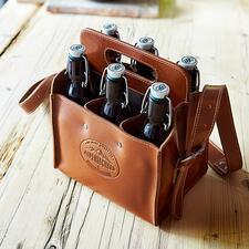 Porte-bouteilles en cuir de buffle - Le porte-bouteilles stylé en cuir de buffle rustique. Fait à la main en Allemagne.