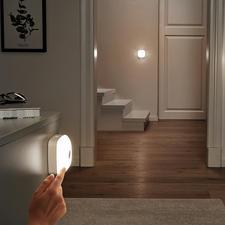 Lampe Smart-Lights, lot de 3 pièces (1 lampe de base, 2 lampes additionnelles) - Lampe LED sans fil, pour apporter de la lumière là où vous en avez besoin, dans toute la maison.